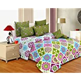 Salona Bichona 100% Cotton King Size Bedsheet With Two Pillow Covers - B0164J831S