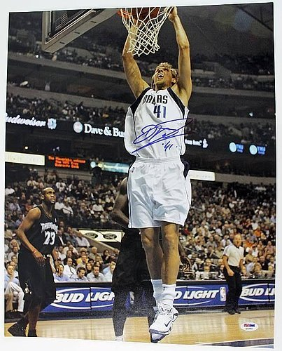 Psa/Dna Mavericks Dirk Nowitzki Signed Authentic 16X20 Photo Autograph - Certified Authentic