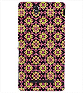 PrintDhaba Pattern D-5242 Back Case Cover for SONY XPERIA C3 (Multi-Coloured)