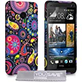 Yousave Accessories Schutzhülle aus Silikongel für HTCOne, Quallen-Design