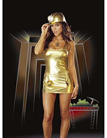 Adult-Costume Gold Digger Lg Halloween Costume - Adult Large