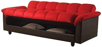 ACME 57055 Achava Adjustable Sofa, Red Finish