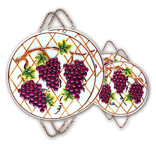 GRAPE 3-D Stove / Burner Covers Set of 4 *NEW*