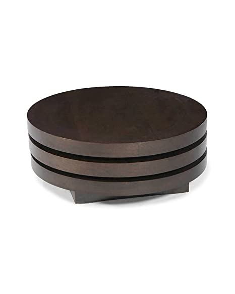 Mod Home Collection 31.5-Inch Torno Coffee Table, Dark Brown