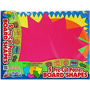 amazoncom artskills small pre cut poster board shapes