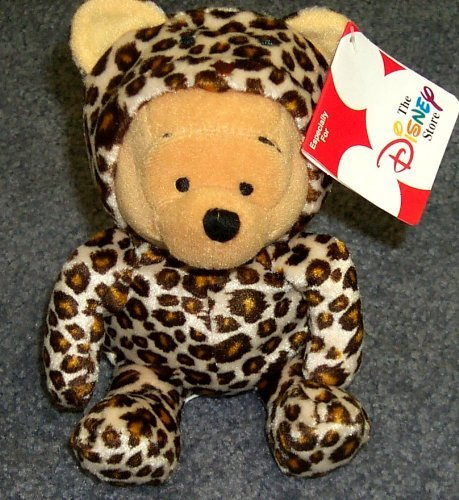"Hard to Find Disney Winnie the Pooh Wild Leopard 7"" Plush Winnie the Pooh Bean Bag Doll - 1"