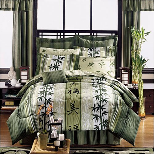 Asian Bedding, Bath & Décor - Japanese Design Haiku Complete Bed in a Bag Set ( Full, Queen, or King )