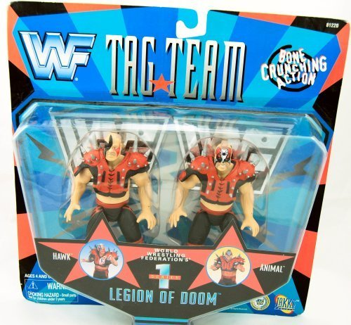 WWF Tag Team Series 1 Legion of Doom Hawk & Animal Action Figures