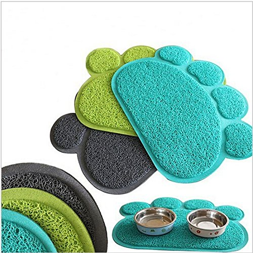 Paw Shape Pets Feet Mat Placemat PVC Radiating Dog Cats Sleeping Feeding Pads (Cat Sleeping Pad compare prices)