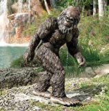 Design Toscano Bigfoot the Giant Life-size Yeti Statue, Multicolored