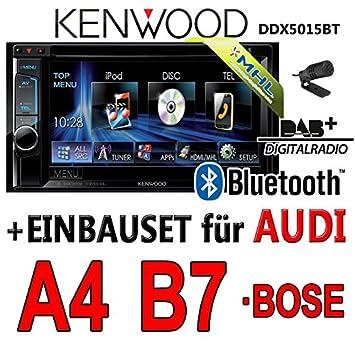 Audi a4 b7 kenwood-dDX5015BT 2DIN multimédia uSB mHL avec dAB