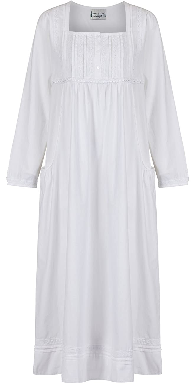 The 1 for U 100% Cotton Nightgown Vintage Design with Pockets - Victoria 0