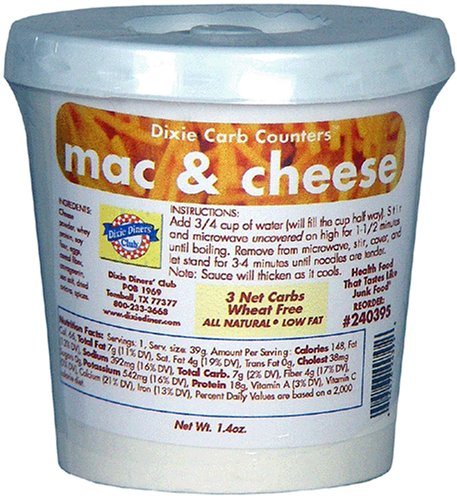 Dixie Carb Counters Mac & Cheese Cup Meal