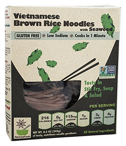 Star Anise Foods Vietnamese Brown Rice Noodles with Seaweed -- 8.6 oz (Star Anise Foods compare prices)