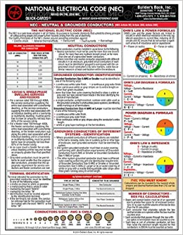 2014 National Electrical Code Laminated Quick Card