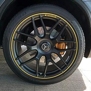 Since 4X Mercedes Benz Alloy Wheel Center Caps 75mm Badges Black Hub Emblem