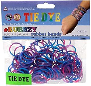 RUBBZY SILICONE TIE DYE RUBBER BANDS FOR RAINBOW LOOM - PINK PURPLE & BLUE MIX