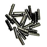 WP-TT® 200 Pcs Shoelace Bullet Metal Ends Aglet Repair Shoe Lace Tips Replacement DIY (GunBlack)