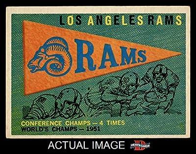 1959 Topps # 126 Rams Pennant Los Angeles Rams (Football Card) Dean's Cards 5 - EX