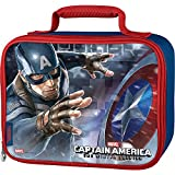 Thermos Captain America Rectangle Soft Lunch Kit - Blue with Red Trim