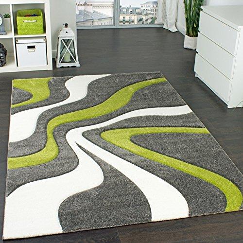 designer-teppich-mit-konturen-schnitt-modernes-wellen-muster-in-grau-grun-creme-grosse60x110-cm