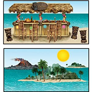Tiki Bar & Island Props Party Accessory (1 count) (8/Pkg)
