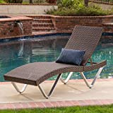 Manuela Outdoor Single Multibrown Wicker Chaise Lounge Chair