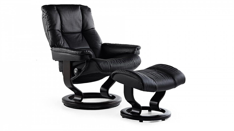 Stressless® Mayfair Sessel mit Hocker (M) Schwarz günstig günstig online kaufen