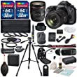 Canon EOS 5D Mark III D SLR Camera with EF 24-70mm f/4L IS USM Lens Including a Battery Grip Heavy Duty Tripod +Total of 64GB SDHC & Deluxe Accessory Bundle and starter Kit
