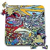 AlienJunkyard Folk Art - Eagle Eye - 10x10 Inch Puzzle (pzl_13639_2)