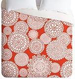 DENY Designs Heather Dutton Delightful Doilies Saffron Lightweight Duvet Cover, Queen