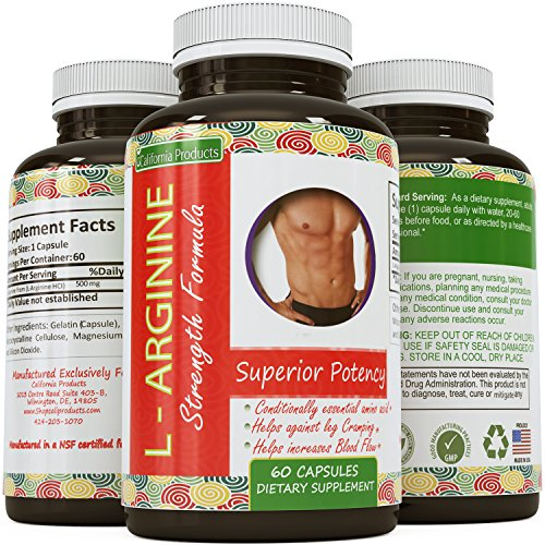 Natural-L-Arginine-Supplement-HCL-Nitric-Oxide-Booster-Increased-Energy-Antioxidant-Support-Metabolism-Boost-Immune-System-Support-Amino-Acid-for-Men-Women-By-California-Products