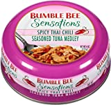 Bumble Bee Sensations Seasoned Tuna Medley, Spicy Thai Chili, 4 Ounce (Pack of 6)