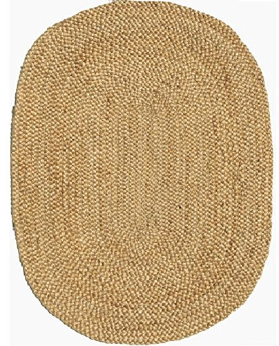Acura Rugs Natural Jute Collection Area Rug 6' x 9' Feet / 72