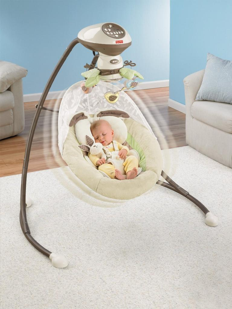 Fisher Price Snugabunny Cradle 39 N Swing With Smart Swing Technology Baby