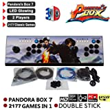 Labyrinen Pandora's Key 7-3D HD Arcade Video Game Console - 2177 in 1 Pandora's Box 7 with LED Glowing - 2 Players Retro Game Controls 1920x1080 HDMI/VGA Output (Color: /)