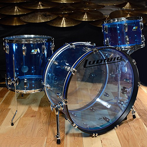 Ludwig Vistalite 13/16/24 3pc Drum Kit Blue Acrylic