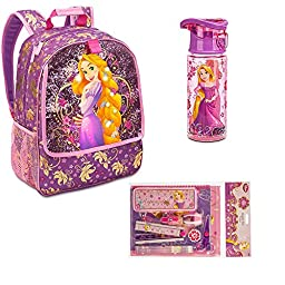 Bundle 3 Items - Kids Gift Set - Disney Rapunzel Backpack 15\