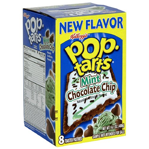 Buy Kellogg's Pop-Tarts Mint Chocolate Chip, 14.1-Ounce, 8-Count Boxes (Pack of 12) (Pop-Tarts, Health & Personal Care, Products, Food & Snacks, Breakfast Foods, Toaster Pastries)
