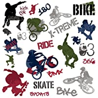 RoomMates RMK1690SCS Extreme Sports Wall Decals