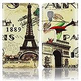 LG Optimus L5 2 II E455 E460 PU LEATHER 1889 PARIS design flip Stand case bumper Flip bag Cover protection thematys®