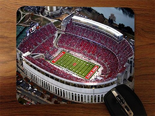College Football Stadiums Desktop Office Silicone Mouse Pad by Compass Litho (Ohio State Mouse Pad compare prices)