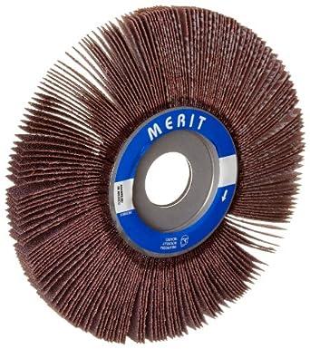"""Merit Economy Abrasive Flap Wheel, 1"""" Arbor, Ceramic Aluminum Oxide"""