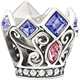 Authentic Chamilia Disney Charm Princess Royal Crown w/ Swarovski Elements 2025-0988