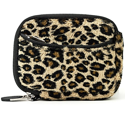 VG Vangoddy Resistant Digital Camera Bag Case - Multiple Color (for Canon, Fuji, Sony, Panasonic, Samsung, Nikon, Pentax, Lumix, Kodak, Olympus & all other Compact Digital Cameras - Internal Size: 108x 65 x 20mm) (Leopard)