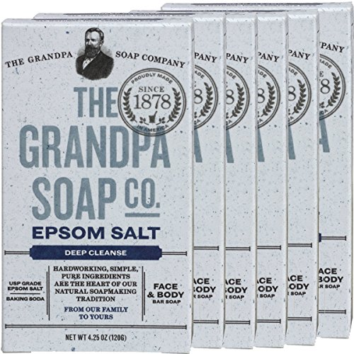 Grandpa's Epsom Salt & Baking Soda Soap 3.25 Ounces (Pack of 6) (Baking Soda Bar compare prices)