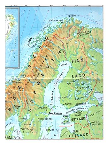 """XXL Landkarte """"Europa und seine Nachbarn"""" physisch, gefalzt Format DIN A0 84 x 118,8 cm"""