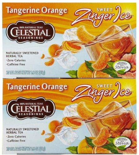 Celestial Seasonings Tangerine Orange Sweet Zinger Ice Tea Bags, 20 ct, 2 pk