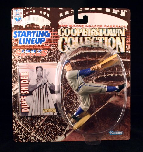 DUKE SNIDER / BROOKLYN DODGERS 1997 MLB Cooperstown Collection Starting Lineup Action Figure & Exclusive Trading Card - 1