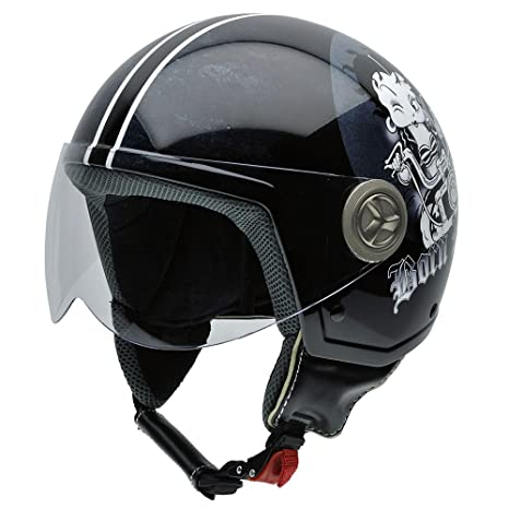 NZI 490020G558 Vintage II Born Wild Casque de Moto, Illustration Betty Boop, Taille : XS
